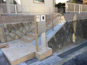 階段とスロープの共存