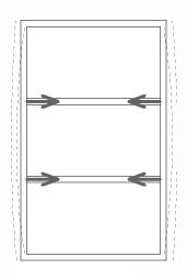 図-08建物の膨らみを抑え、桁を引き込むのが梁