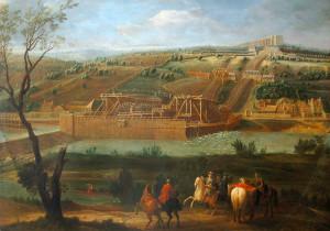La Machine de Marly par Pierre-Denis Martin, 1723.