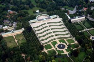 サンスーシ宮殿の航空写真