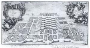 1746年頃のサンスーシ宮殿と庭園の様子