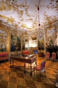 サンスーシ宮殿音楽演奏室の内装の現状