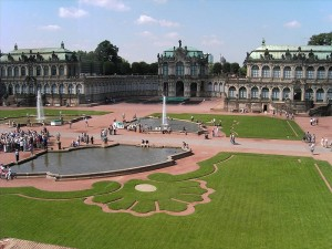 ツヴィンガー宮殿の中庭