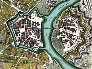 1750年のドレスデン市街図