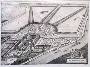 ハンプトン・コートの俯瞰図1708年
